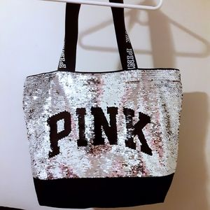 Victoria Secret- Pink- Bling-flip tote